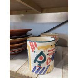Vase céramique coloré
